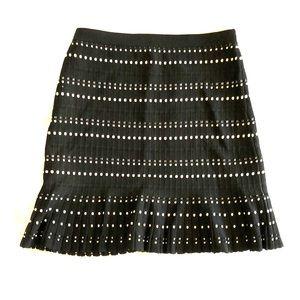 """Textured Resort Boho Dress Skirt Pleated 21"""" Long"""
